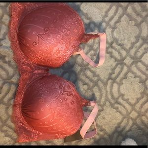 Other - New 40DDD bra, push-up, pink w/ darker pink lace